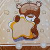 Одеяло-плед Мишка со звездой арт. 001 Б