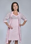 Комплект с халатом «Каприз» (светло розовый) Артикул: КНС200-1к-2