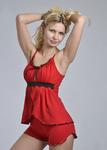 """Пижамы с шортами """"Ассоль"""" (Красный) Артикул: ПШ100-0в-6"""
