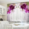 Фототюль для кухни Цветочная вуаль