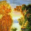 Картина-раскраска по номерам 40*50 GX 3243 Два берега