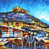 Картина-раскраска по номерам 40*50 GX 4512 Греция (худ. Л. Афремов)