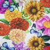 Ткань Жаккард цветы-бабочки Д-4