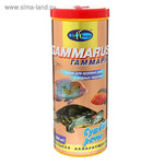 "Корм для крупных рыб и водных черепах ""ГАММАРУС"" сушеный рачок, 1000 мл/105 г"