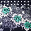 Ткань Барби Цветок на клетке Д-3 зелёный