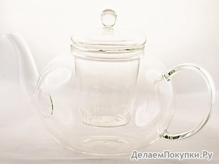 """Стеклянный чайник с колбой 800 мл """"Телия"""""""