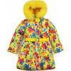 Зимнее пальто Kiko для девочки РАДУГА РОУЗ (желтый), 6-9 лет