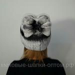 """Меховая шапка""""Бантик"""" цвет шиншиллы , мех кролик рекс. Подробнее: https://xn-----7kcgobxpmiohaje2czb8cyc.xn--p1ai/p202103071-mehovaya-shapkabantik-tsvet.html"""