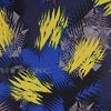 Поли Понж, Дюспо, 100% полиэфир, 80 г/м2, ВО, ПУ,Милки, шир. 150 см (Молнии/жёлтый-василек)