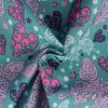Поли Понж, Дюспо, 100% полиэфир, 80 г/м2, ВО, ПУ,Милки, шир. 150 см (Веселые бабочки/бирюза)