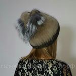 "Меховая шапка "" Косынка "" цвет капучино , мех кролик рекс Подробнее: https://xn-----7kcgobxpmiohaje2czb8cyc.xn--p1ai/p270510852-mehovaya-shapka-kosynka.html"
