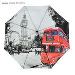 """Зонт автоматический """"Лондон"""", ST 231221, R=50см, цвет серый/чёрный/красный"""