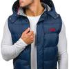 Модель без рукавов мужской с капюшоном темно-синий Denley 6794