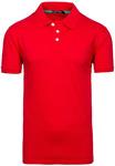 Футболка поло мужская красная Denley 5408
