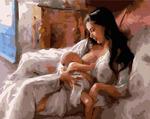 Картина-раскраска по номерам 40*50 производитель Планета Картин GX 6402 Кормящая мать