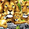 Картины по номерам 40*50 (большие), производитель Paintboy (Китай) GX 6047 Семейство львов