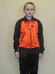 Спортивный костюм на мальчика модель 11-6 чёрный+оранж