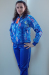 Женский спортивный костюм, модель 55 принт-6