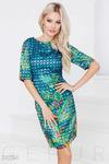 Атласное платье-сетка