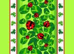 Ткань Вафельное полотно Божья коровка (отрез 5м )