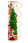"""Набор из 4-х кружек """"Дед Мороз и ёлка"""", 275 мл, в подарочной упаковке"""