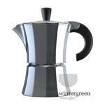 Алюминиевая гейзерная кофеварка Morosina (на 3 чашки).