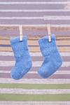 Носки детские из шерстяной пряжи голубые