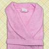 халат женский махровый светло розовый
