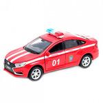 Игрушка модель машины 1:34-39 LADA Vesta пожарная охрана