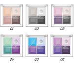 Bell - Тени для век 4-цветные матовые Mat EyeShadows