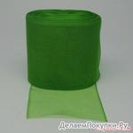 Лента органза (светло-зеленая), ширина 80 мм