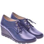 Женские кожаные туфли на шнуровке (размер - 39)