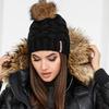 Теплая шапка помпон