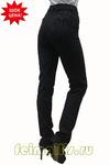Слегка приуженные черные/ бел полоска брюки (46-58) размер