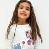 Блузка детская для девочек Julia белый