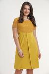 Платье 5805. Горчичный. Плательная ткань