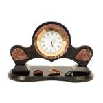 Настольные часы с камушками