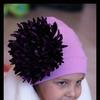 Шапочка цвета лаванды с хризантемой Мономаха
