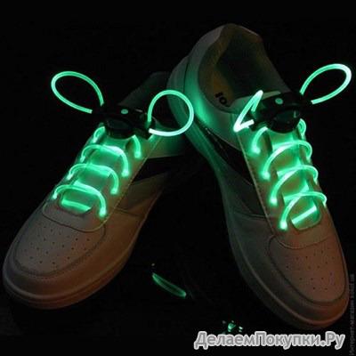 Светящиеся шнурки. Led свечение Арт: №00440