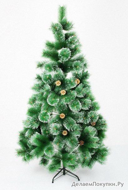 Искусственная елка с заснеженными кончиками и - высота 240 см. Без шишек