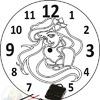 Часы Русалочка (Оргстекло)