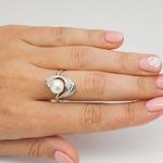 Серебряное кольцо с жемчугом - 462
