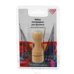 Набор инструмента д\фелтинга (валяния, фильцевания) АРТИ деревянный держатель на 6игл блистер