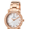 Cabochon  Rose-Tone Stainless Steel White Dial