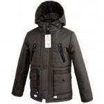 Куртка демисезонная модель ДП05, цвет черный 110,116,122