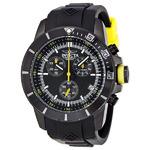 Invicta 11748 Men's Pro Diver Chrono Black Polyurethane & Dial Yellow Accent