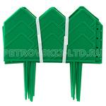 67639 - Заборчик-ограждение пластмассовый, 310х14см, 13 секций, h ножек 10см, зеленый (Россия)