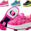 PPXID Boy's Girl's Adult's Single Wheel/Double Wheels Skate Shoes Roller Sneakers