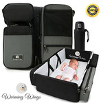 SmartNest - The All-In-One Fashionable Stylish Diaper Bag with Changing Pad , Portable Bassinet and Foldable Changing Station