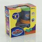 Тесто для лепки 9201 (48) 250 грамм, 4 цвета, в коробке